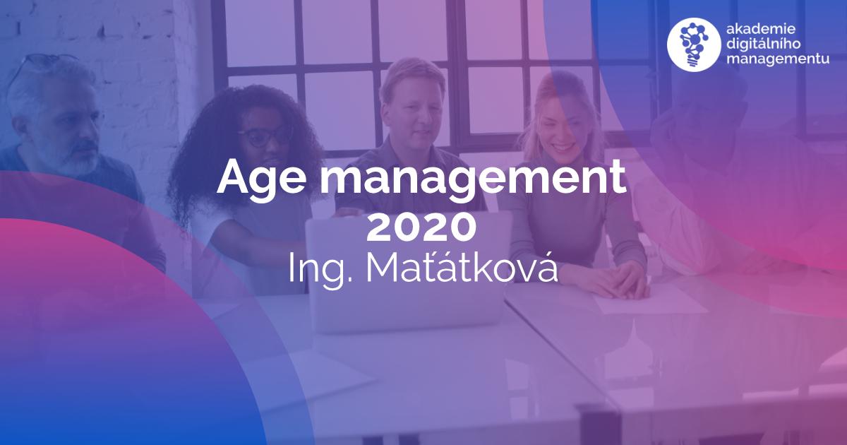 Další přednáška - Age management z digitálního pohledu