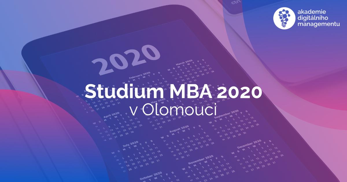 Studium MBA v roce 2020 v Olomouci