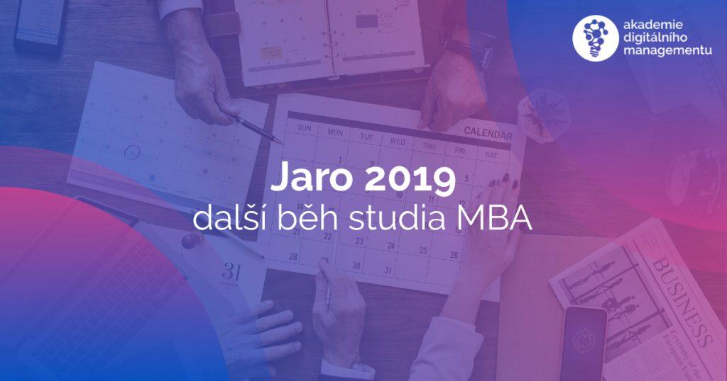 Na jaře 2019 zahajujeme další běh studia MBA - tentokrát v Brně